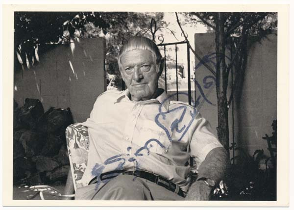 Photograph Signed. Erskine CALDWELL.