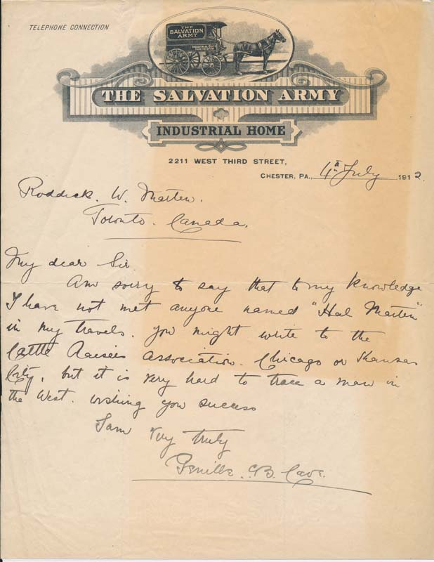 Autograph Letter Signed. Reverend Sir Genille CAVE-BROWNE-CAVE.