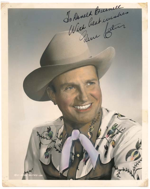 Inscribed Photograph Signed. Gene AUTRY.