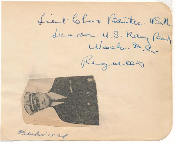 Signature and Inscription. Charles BEUTER, ?-1964.