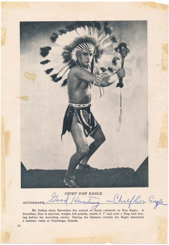 Inscribed Photograph Signed. Don EAGLE.