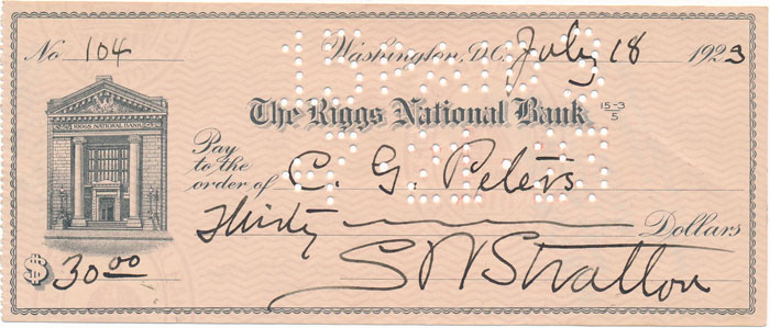 Partly-printed Autograph Document Signed. Samuel W. STRATTON.