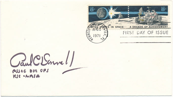 Signed First Day Cover. Paul C. DONNELLY.