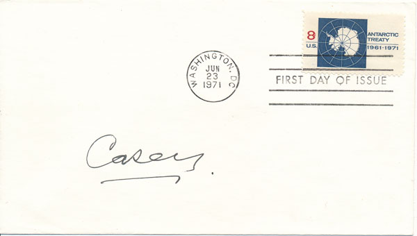 Signed First Day Cover. Richard G. CASEY, Baron.