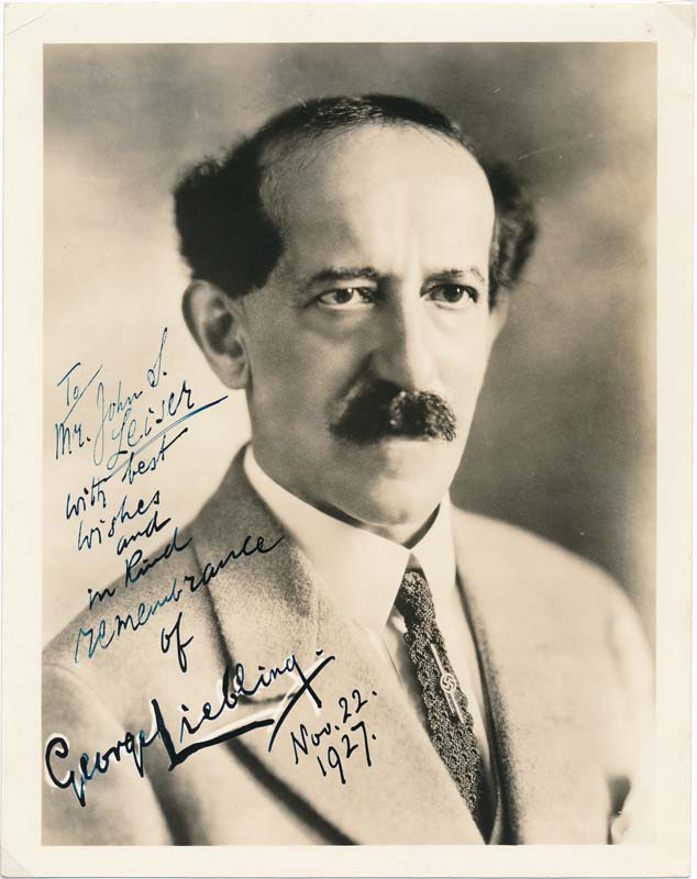 Inscribed Photograph Signed. George LIEBLING.