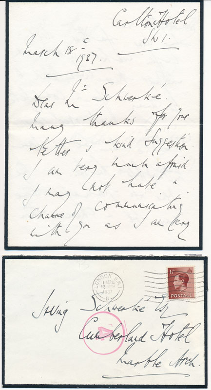 Autograph Letter Signed. William George Edward BROWNLOW, 4th Baronet Brownlow.