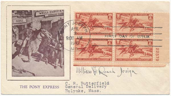 Signed First Day Cover / Unsigned Photograph. William A. ROACH.