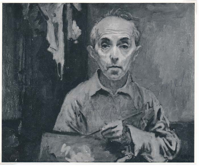 Photograph Signed. Raphael SOYER.