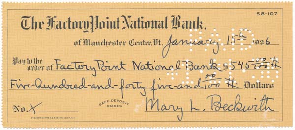 """Partly-Printed Autograph Document Signed. Mary Lincoln """"Peggy"""" BECKWITH."""