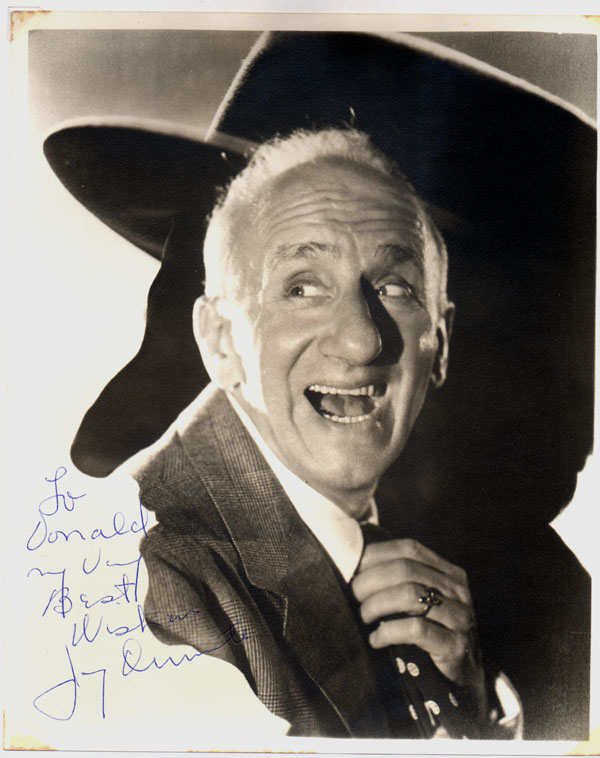Inscribed Photograph Signed. Jimmy DURANTE, 1893--1980.