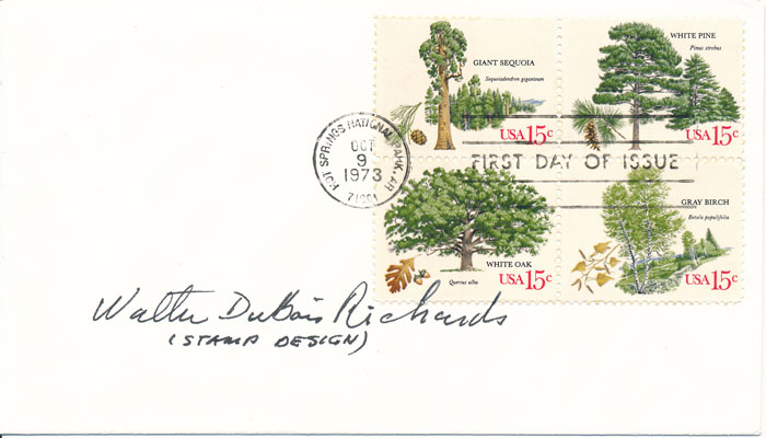 Signed First Day Cover. Walter DuBois RICHARDS.