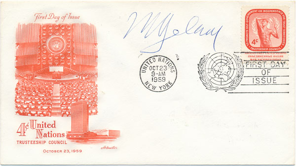 Signed First Day Cover. Victor Andres BELAUNDE.