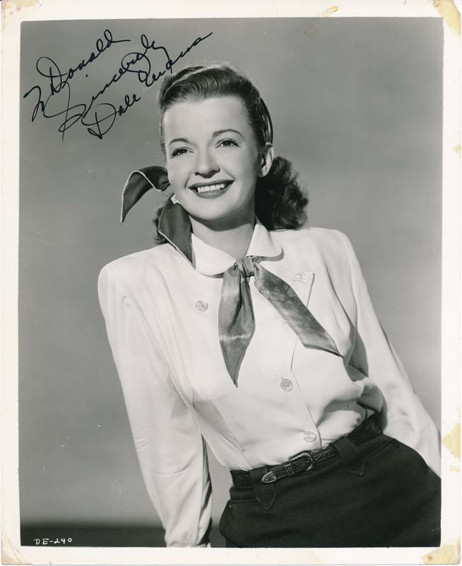 Inscribed Photograph Signed. Dale EVANS.
