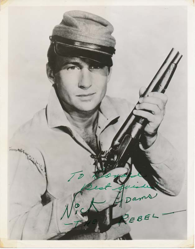 Inscribed Photograph Signed. Nick ADAMS.