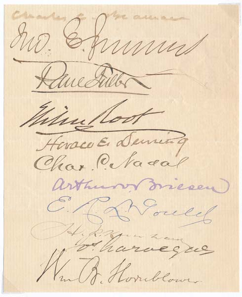 Signatures. Elihu ROOT.