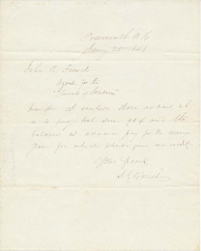 Autograph Note Signed. Samuel Elliott COUES.