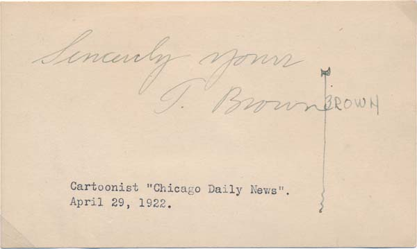 "Signature. Edward Scott ""Ted"" BROWN."