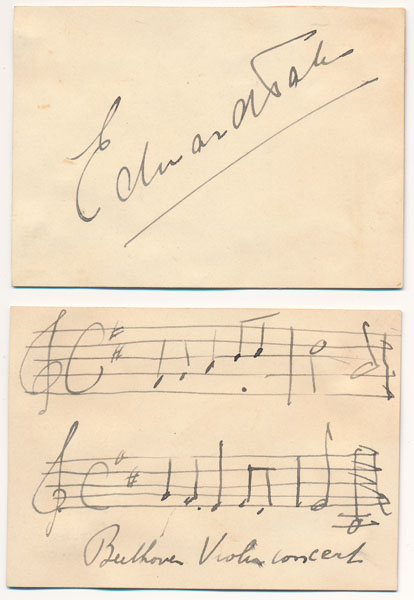 Signature / Autograph Musical Quotation. Edward TAK.