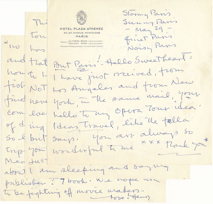 Autograph Letter Signed. Henry SELL.