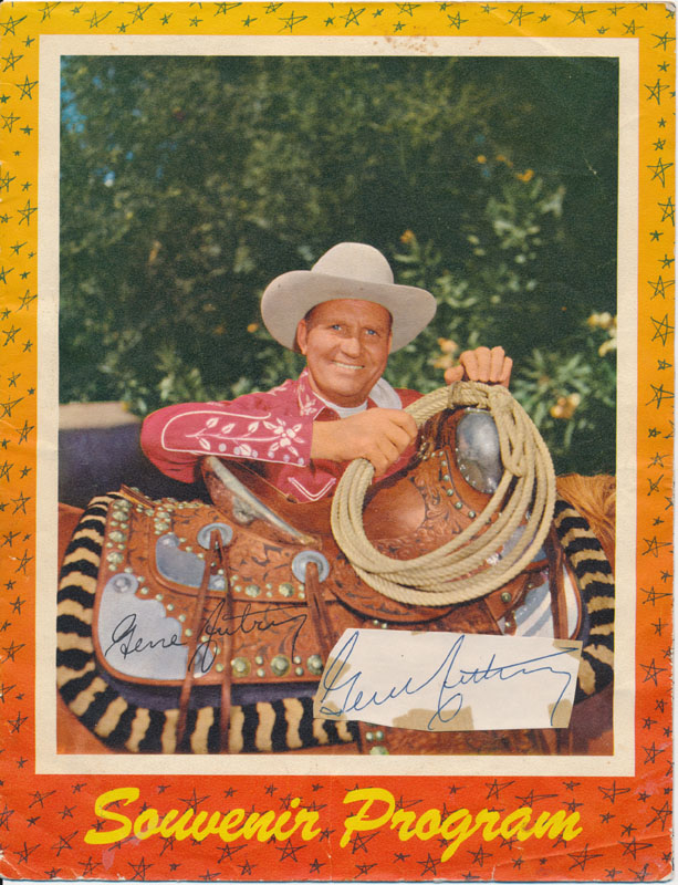 Program with Signature. Gene AUTRY.