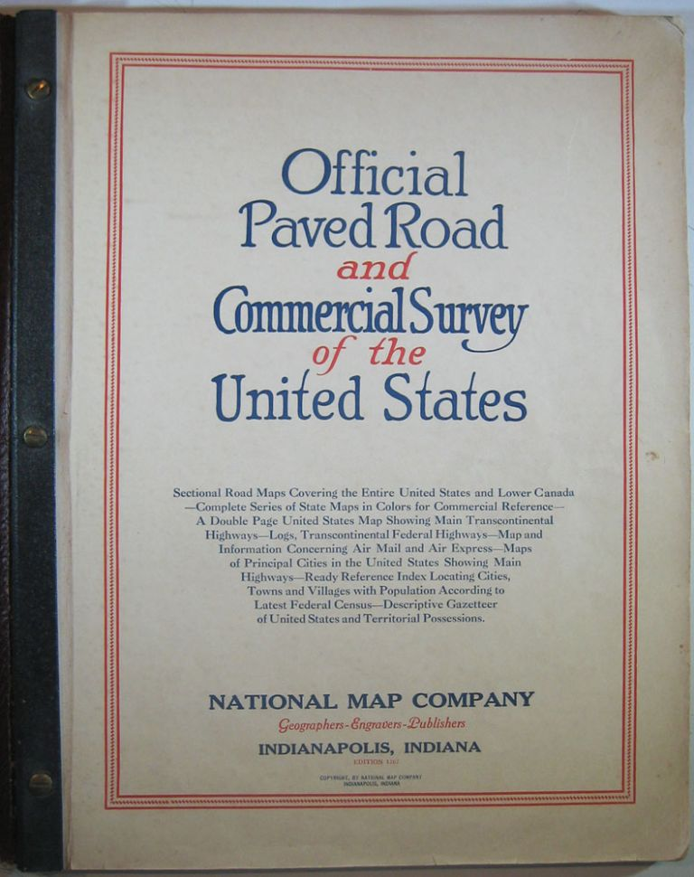 Official Paved Road and Commercial Survey of the United States....