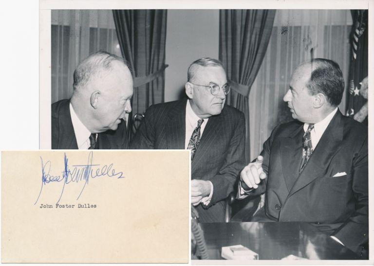 Signature / Unsigned Photograph and First Day Cover. John Foster DULLES.