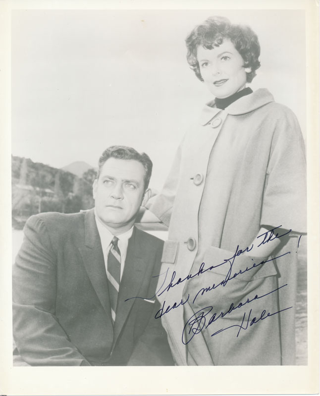 Inscribed Photograph Signed. Barbara HALE.