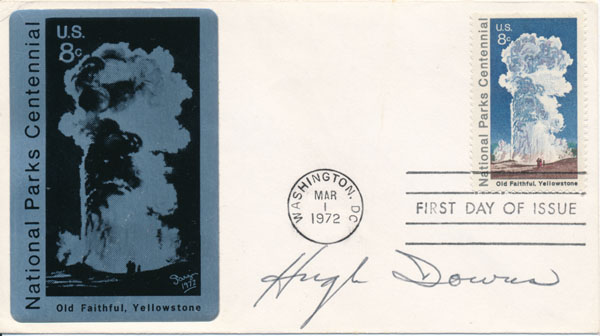 Signed First Day Cover. Hugh DOWNS.