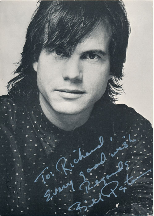 Inscribed Photograph Signed / Autograph Note Signed. Bill PAXTON.