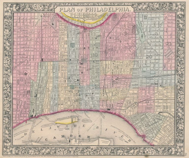Plan of Philadelphia. PHILADELPHIA -- Map.