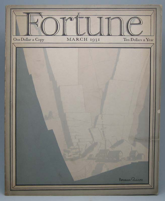Fortune (Vol. 3, No. 3, March 1931). Henry R. LUCE.