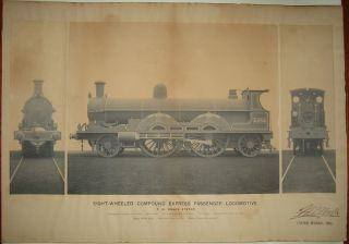 "Photograph Signed (""Eight-Wheeled Compound Express Passenger Locomotive""). Francis William WEBB"