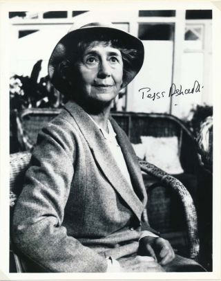 Photograph Signed. Peggy ASHCROFT