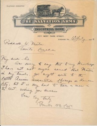 Autograph Letter Signed. Reverend Sir Genille CAVE-BROWNE-CAVE