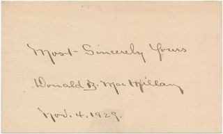 Signature and Salutation. Donald MacMILLAN