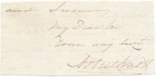Signature and Salutation. John ARBUTHNOT