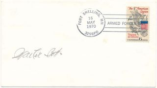 Signed Postal Cover. Walter BOTTS
