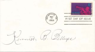 Signed First Day Cover. Kenneth Brown BILLUPS, 1918-?