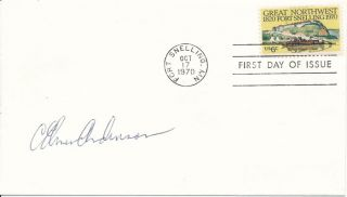 Signed First Day Cover. C. Elmer ANDERSON