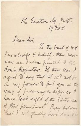 Autograph Letter Signed. William M. ROSSETTI