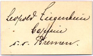 Signature and Rank. Leopold ZIEGENBEIN