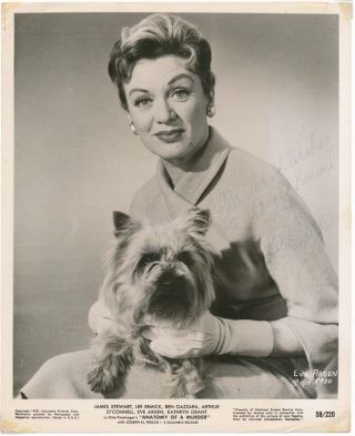 Inscribed Photograph Signed. Eve ARDEN