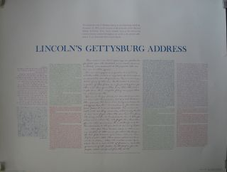 Lincoln's Gettysburg Address: The immortal words of Abraham Lincoln at the Gettysburg...