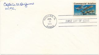 Signed First Day Cover. Alva R. DeGARMO