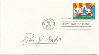 Signed First Day Cover. Rene J. DUBOS