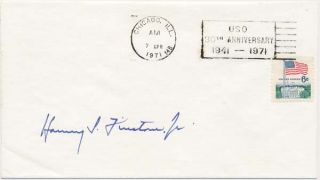 Signed Commemorative Cover. Harvey S. FIRESTONE, Jr