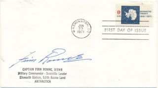 Signed First Day Cover. Finn RONNE