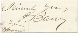 Signature and Salutation. Patrick BARRY