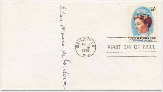 Signed First Day Cover / Unsigned Autograph Note. Elsie Maass DE CORDOVA