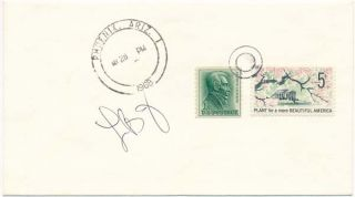 Signed Postal Cover. Lady Bird JOHNSON